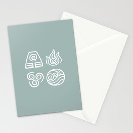 Bending All Four Elements – Water Stationery Cards