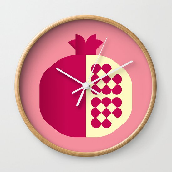 Fruit: Pomegranate Wall Clock