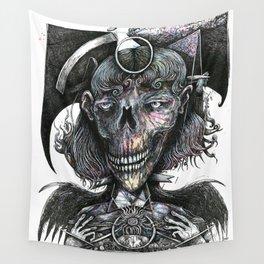Feminine Skull Wall Tapestry
