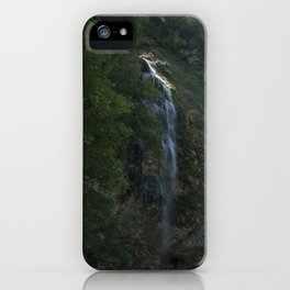 A small waterfall in the mountains iPhone Case