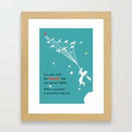 LITTLE PRINCE -Le petit prince- art poster Framed Art Print
