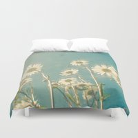 forever young Duvet Covers featuring Forever Young by Cassia Beck