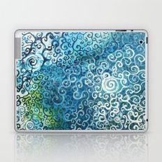 Swirly Deep Blue Sea Laptop & iPad Skin