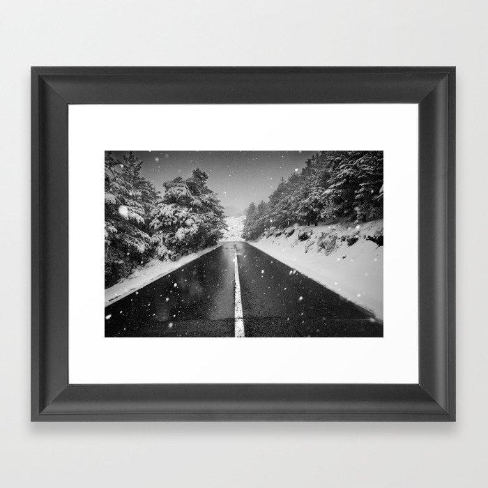 """""""The road"""". Bw Framed Art Print"""