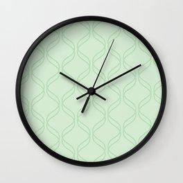 Double Helix - Light Greens #769 Wall Clock