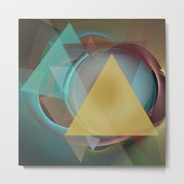 Modern colourful abstract with triangles Metal Print
