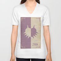 majoras mask V-neck T-shirts featuring Majoras Mask by cbrucc