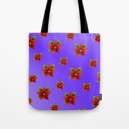 Red Flowers Pattern 3 Tote Bag
