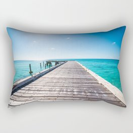 Turks and Caicos beach pier Rectangular Pillow