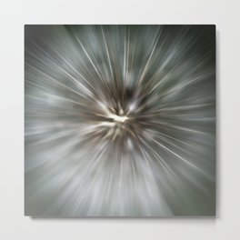 Abstract Dandelion Metal Print