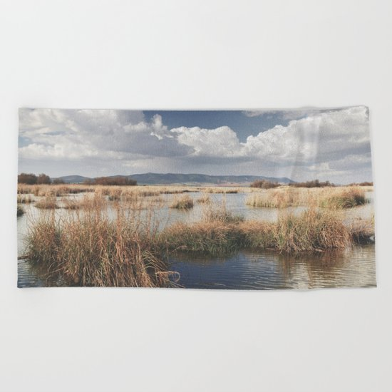 """Waiting for the storm"" At the lake... Beach Towel"