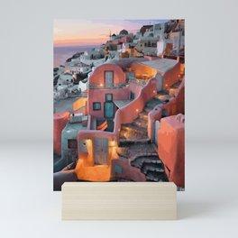 Ocean By Santorini Greek Islands Mini Art Print