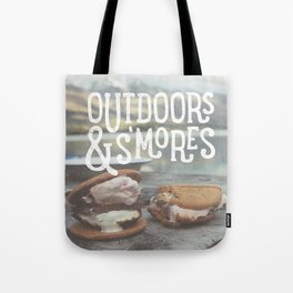 outdoors & S'mores Tote Bag
