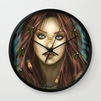 into the wild Wall Clocks featuring Wild by PiccolaRia