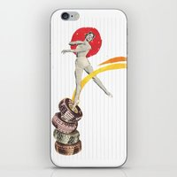 ballerina iPhone & iPod Skins featuring Ballerina by Fitacola