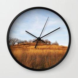 Golden Autumn Savanna Wall Clock