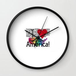Improving America  Wall Clock