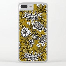 Khaki Garden Clear iPhone Case