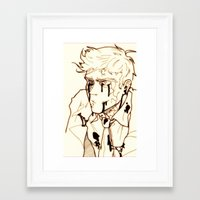 levi Framed Art Prints featuring Levi!Cas by PrettyOddChild