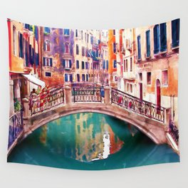 Small Bridge in Venice Wall Tapestry