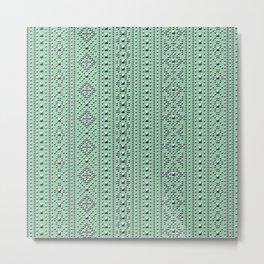 Studded Southwest Stripe on Mediterranean Mint 1@50 Metal Print