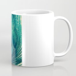 Teal Peacock Feathers Coffee Mug