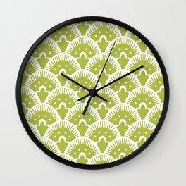 Fan Pattern Chartruese 201 Wall Clock