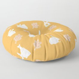 Bunny leaf pattern (yellow) Floor Pillow