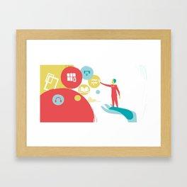 User Experience Framed Art Print