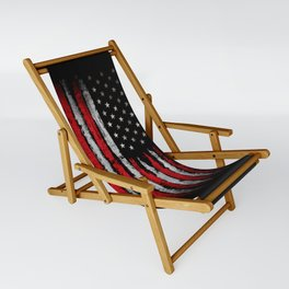 Red & white Grunge American flag Sling Chair