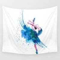 ballet Wall Tapestries featuring Ballet by Zdenka Koskova