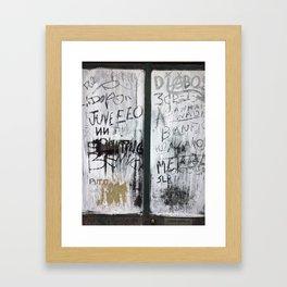 Madeira Window Framed Art Print