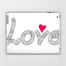 love with red heart Laptop & iPad Skin