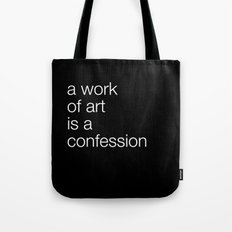 work of art black Tote Bag