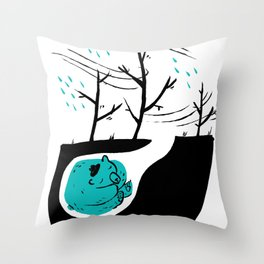 The last portuguese bear Throw Pillow