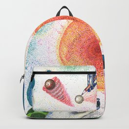 the universe in dots (pointillism) Backpack
