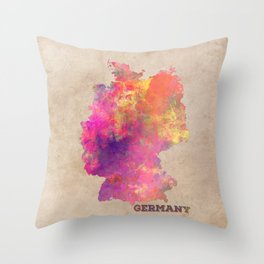 Germany map Throw Pillow