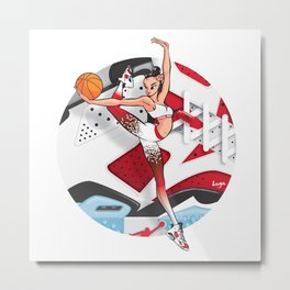 CoolNoodle and Carmine Metal Print