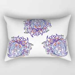 traditional paisley in modern style Rectangular Pillow