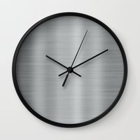 metal Wall Clocks featuring Metal by Texture