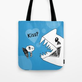 Grumpy Fish Needs a Kiss - Art by a Child Tote Bag