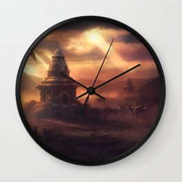 The Red In The Sky Is Ours Wall Clock