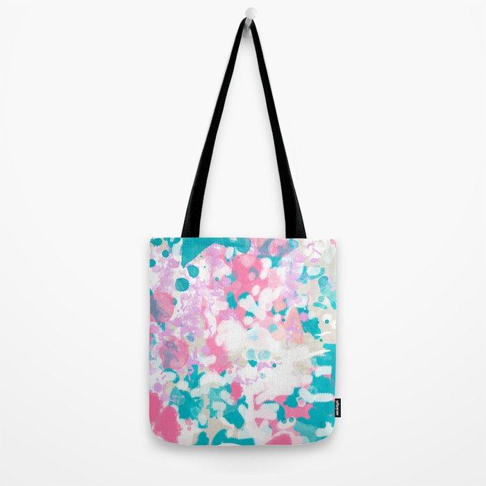 Shaz - abstract painting minimal modern color palette boho nursery home decor Tote Bag