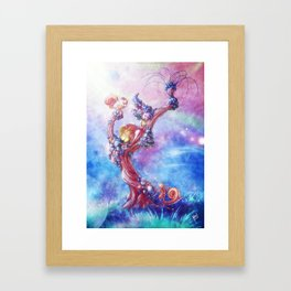 Blowing Framed Art Print