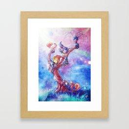 Blowing Framed Art Print