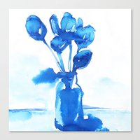 tulips Canvas Prints featuring Tulips by Zsofi Porkolab