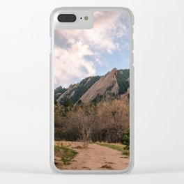 Rocky Mountain Sunset Clear iPhone Case