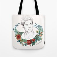 niall Tote Bags featuring Niall  by Coconut Wishes