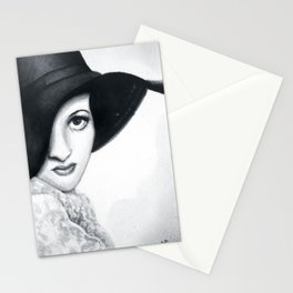 Joan Crawford, watercolour Stationery Cards