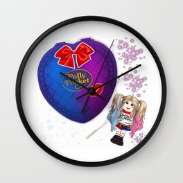Harly Quinn polly pocket Wall Clock